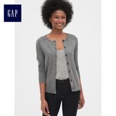 Gap女裝 休閒插肩長袖開襟針織衫 473902-灰色