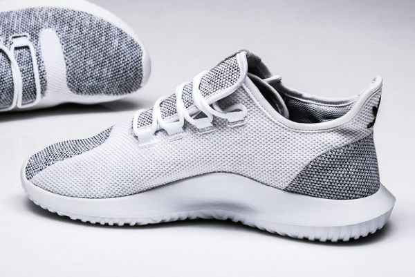 ISNEAKERS Adidas Tubular Shadow BB8941 灰白 編織 小350 情侶款