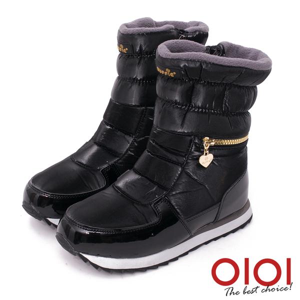 雪靴 寒冬對策撞色防水厚底雪靴(黑)* 0101shoes 【18-M025bk】【現貨】