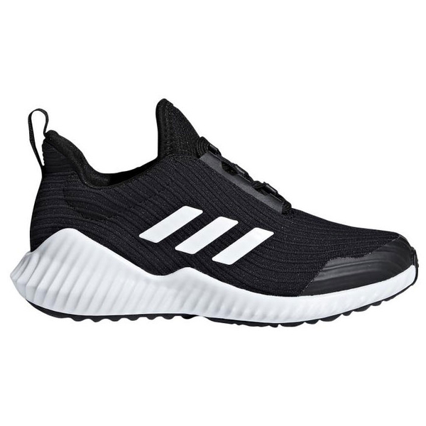 Adidas FORTARUN 女鞋 大童 慢跑 休閒 輕量 透氣 柔軟 黑 【運動世界】 AH2619