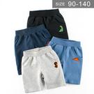 男童純棉短褲。ROUROU童裝。夏男童中小童純棉繡恐龍五分褲 短褲 0122-469