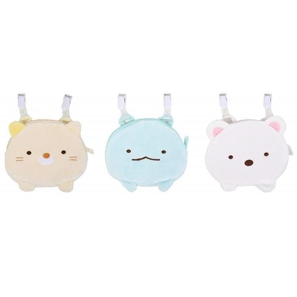 【南紡購物中心】日本限定San-X角落生物造型小朋友包包角落小夥伴隨身小袋子SG0041貓咪蜥蝪白熊
