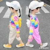女寶寶秋冬裝套裝大尺碼洋裝新款1女童網紅2女孩衣服3洋氣小童兒童潮4歲 qf31635【pink領袖衣社】