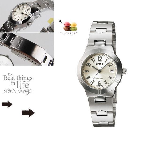 CASIO LTP-1241D-7A2 卡西歐 簡約指針錶 LTP-1241D-7A2 銀白色面 33mm 女錶 防水手錶 鋼錶帶 數字錶