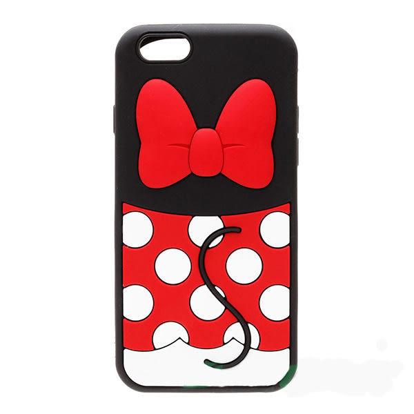 【漢博商城】iPhone 6/6S 4.7吋 Disney iJacket 迪士尼 立體矽膠軟殼 第二彈 米妮