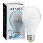 ★2件超值組★美克斯UNIMAX LED燈泡-白光(12W)【愛買】