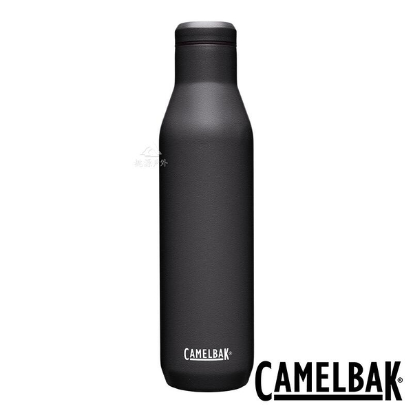 『VENUM旗艦店』【CAMELBAK 】Wine Bottle 不鏽鋼紅酒 保溫瓶 750ml-濃黑