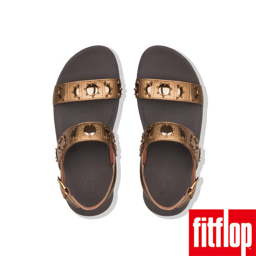 【FitFlop】LOTTIE CRESCENT STUD BACK-STRAP SANDALS(銅色)歡慶10周年!限時回饋66折