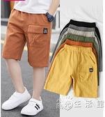 男童短褲工裝褲2021新款潮夏季薄款外穿五分褲子兒童休閒寶寶中褲 蘇菲小店