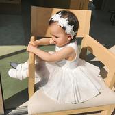 辰辰媽嬰童裝春夏裝6-12月嬰兒寶寶背心裙無袖網紗連衣裙小童裙子   夢曼森居家