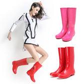 雨鞋 雨靴 雨靴女正韓高筒雨靴女成人水靴女士長筒時尚夏季套鞋膠鞋防滑水鞋