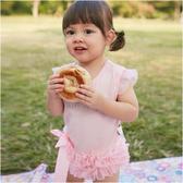 女寶寶包屁裙 手工鑲鑽 飛袖 包屁衣 爬服 哈衣 Augelute Baby  32144