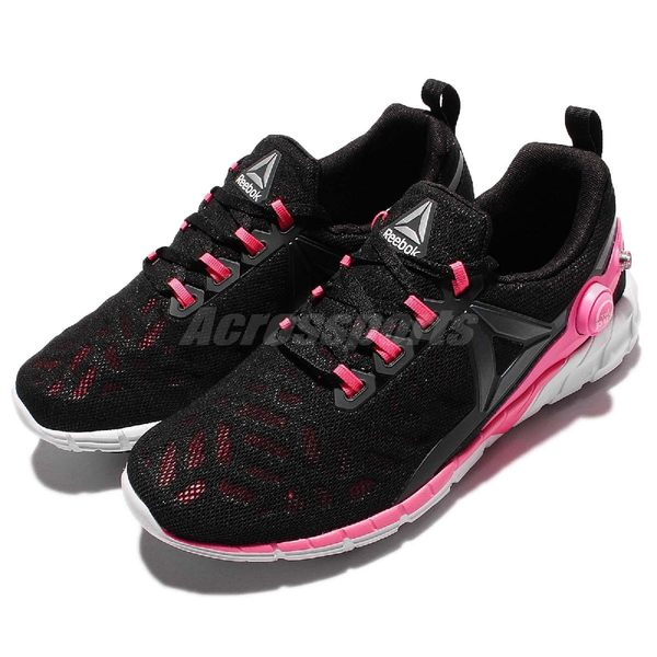Reebok 慢跑鞋 Zpump Fusion 2.5 黑 粉紅 白 充氣設計 休閒鞋 女鞋【PUMP306】 AR2816