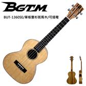BGTM嚴選單板BUT-1360SE雲杉斑馬木26吋電烏克麗麗~內建調音器!