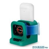 無線充電盤 適用于iwatch手表充電器支架Airpods pro無線充電座二合一充電 快速出貨