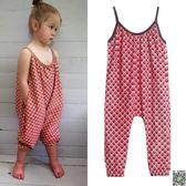 連身裝 夏季款時尚露肩女寶寶童吊帶連身衣