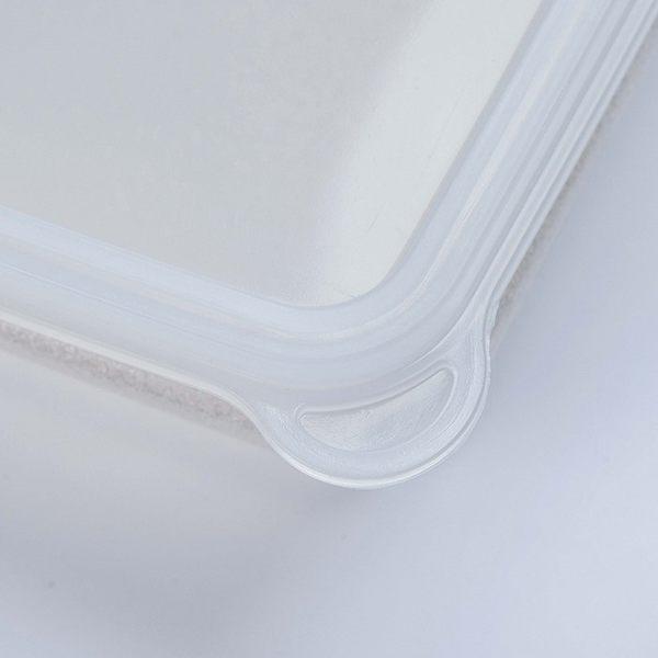 日本製mju-func®妙屋房銀纖維銀離子薄型抗菌保鮮盒T6-M134 尺寸: 365mm × 270mm × H55mm  4100ml