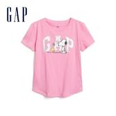 Gap女童史努比徽標LOGO短袖546075-螢光粉
