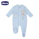 chicco- 粉彩-前開長袖兔裝-藍色