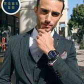 超薄手錶男學生簡約潮流個性休閒鋼帶防水夜光機械男錶石英錶 3C優購