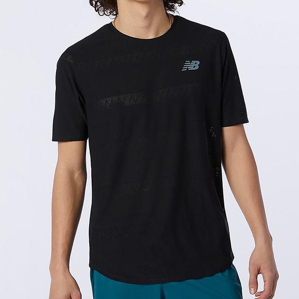 New Balance Q Speed 男裝 短袖 透氣 吸濕 排汗 休閒 反光 黑【運動世界】AMT13277BK