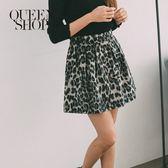 Queen Shop【03010725】滿版豹紋鬆緊腰褲裙 兩色售*現+預*