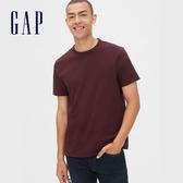 Gap男裝簡約風格圓領短袖T恤492343-深紫褐色