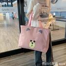 旅行包袋可愛輕便大容量女手提旅游包包帆布短途行李袋子手提學生 開春特惠