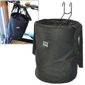 【饗樂生活】自行車用ZAN黑色前置物袋/掛鉤式/寵物袋、台灣製、帶寵物狗狗去兜風