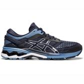 Asics GEL-Kayano 26 4E [1011A536-400] 男鞋 運動 慢跑 輕量 支撐 超寬楦 藍灰
