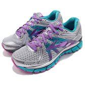BROOKS 慢跑鞋 Adrenaline GTS 17 D 寬楦頭 十七代 銀 黑 DNA動態避震 女鞋【PUMP306】 1202311D055
