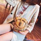 果凍包港風小包包女夏季新款透明果凍包時尚鍊條手提單肩斜挎水桶包 年終狂歡盛典