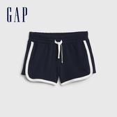 Gap女童棉質舒適鬆緊腰休閒短褲539694-海軍藍色