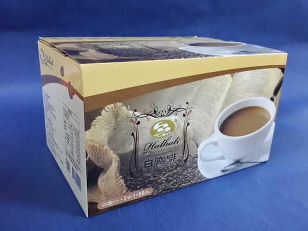 (限定 全家取貨付款)【品皇咖啡】哈拉里白咖啡即溶二合一咖啡,無糖, 25g*68入 量販盒裝
