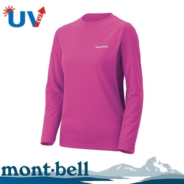 【Mont-Bell 日本 女款 WICKRON ZEO 長袖排汗T恤《紫紅》】1104939/圓領長袖/休閒衫/防曬