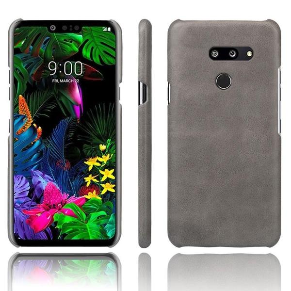 手機殼 適用LG G8美版手機殼皮質背殼G8 thinq保護套防摔手機套復古外殼