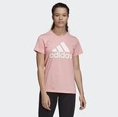 Adidas W BOS CO TEE 女款粉色運動短袖上衣-NO.FQ3239