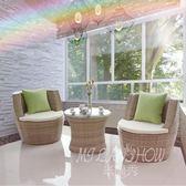 藤椅三件套 陽臺桌椅 戶外休閒室外桌椅 茶幾三件套 椅子組合