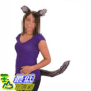 [103美國直購] 成人狼耳和尾集 Jacobson Hat Company Women's Adult Wolf Ears Headband and Tail Set $625
