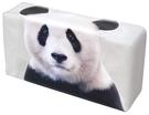 車之嚴選 cars_go 汽車用品【ME298】日本進口 可愛大熊貓圖案置放式抽取式面紙盒套