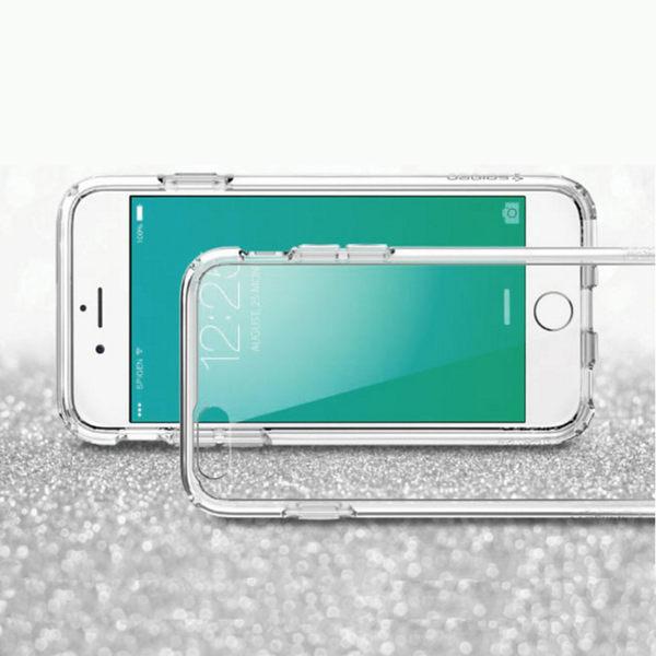 Apple iPhone SE 4吋 高質感雙料材質 透明TPU+PC手機殼/保護套