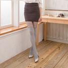 拼接假高筒性感顯瘦褲襪絲襪 (條紋款  白灰色)