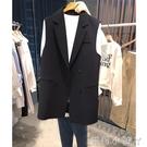 小個子西服馬甲外套女韓版中長款無袖小西裝百搭坎肩大碼外穿馬甲【蘿莉新品】