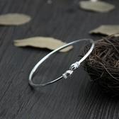 純銀手環(泰銀)-細緻蓮花生日情人節禮物女手鐲73gg55【時尚巴黎】