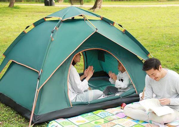 帳篷 戶外3-4人全自動雙人2單人家用賬防暴雨野營野外加厚防雨露營jy【快速出貨八折搶購】