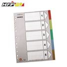 7折 HFPWP 5段塑膠五色分段紙 環保材質台灣製 IX901