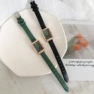 北歐小眾輕奢女士女錶2020孔雀綠新款手錶女復古方形小方錶Ins風 樂活生活館