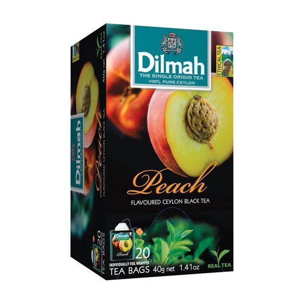 Dilmah 帝瑪 水蜜桃口味紅茶 茶包 2g*20入/盒-【良鎂咖啡精品館】