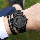 手錶男潮流 學生 網紅 新概念 黑科技 個性 無指針 女男磁力鋼珠星空  降價兩天