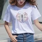 短袖白色短袖t恤女寬鬆ins潮2020夏裝韓版百搭超火cec半袖上衣服春季特賣